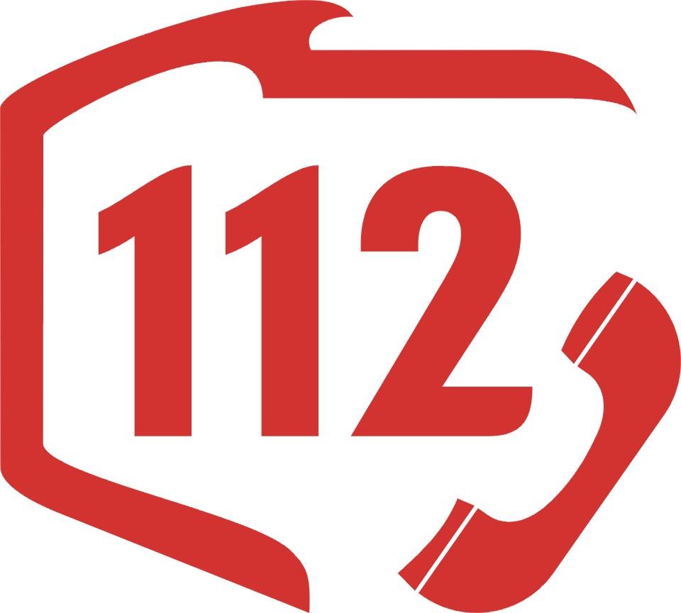 Obraz przedstawiający logotyp Europejskiego Numeru Alarmowego 112